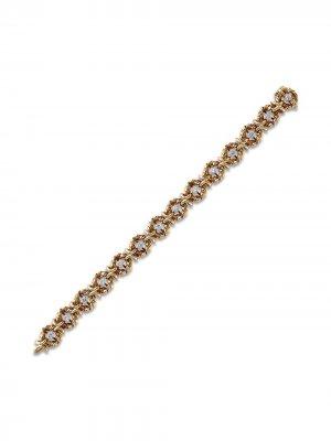 Браслет Present Day 1961-го года из желтого золота с бриллиантами Van Cleef & Arpels. Цвет: золотистый