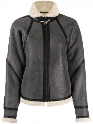 Куртка Acaste со вставкой из овчины Isabel Marant Étoile. Цвет: серый