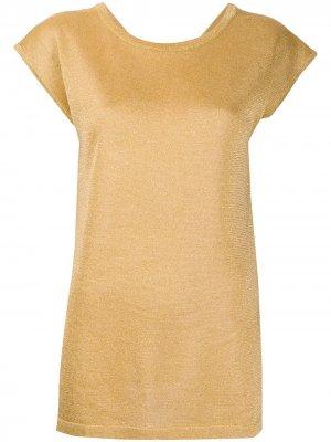 Приталенный джемпер с короткими рукавами Missoni. Цвет: желтый