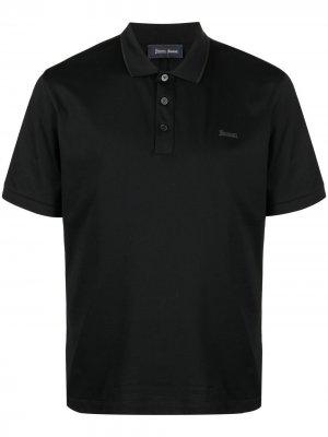 Рубашка поло с короткими рукавами Herno. Цвет: черный
