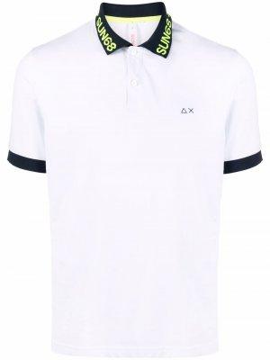 Рубашка поло с контрастной отделкой Sun 68. Цвет: белый