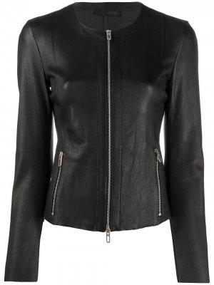 Приталенная куртка на молнии Drome. Цвет: черный
