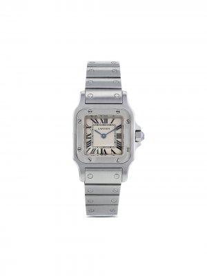 Наручные часы Santos 23.5 мм 1990-го года Cartier. Цвет: нейтральные цвета