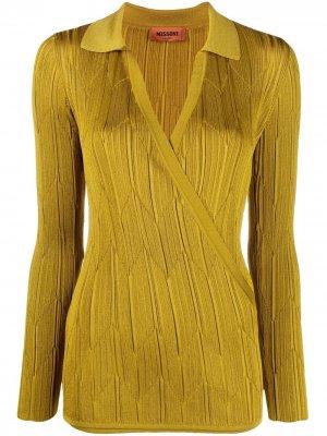 Рубашка поло с узором зигзаг Missoni. Цвет: зеленый