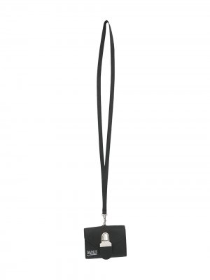 Ключница на шнурке MM6 Maison Margiela. Цвет: черный