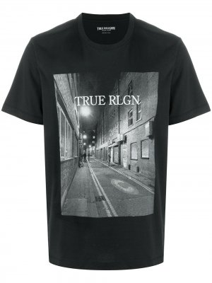 Футболка True Rlgn Religion. Цвет: черный