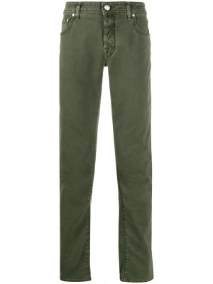 Брюки с пятью карманами Jacob Cohen. Цвет: зеленый