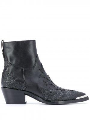 Ковбойские ботинки Django Ash. Цвет: черный