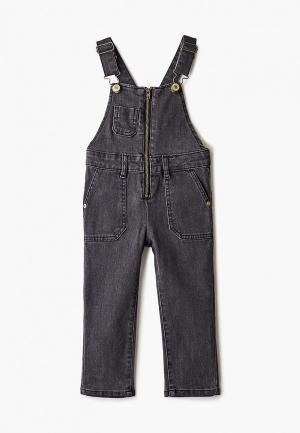 Комбинезон джинсовый Sela. Цвет: черный