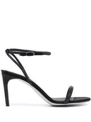 Босоножки Ellabrita с открытым носком René Caovilla. Цвет: черный