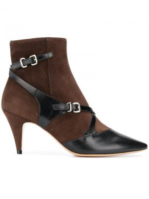 Pointed buckled ankle boots Tod's. Цвет: коричневый