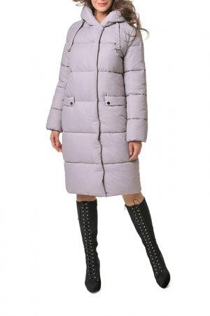Пальто стеганое DIZZYWAY. Цвет: светло-лиловый
