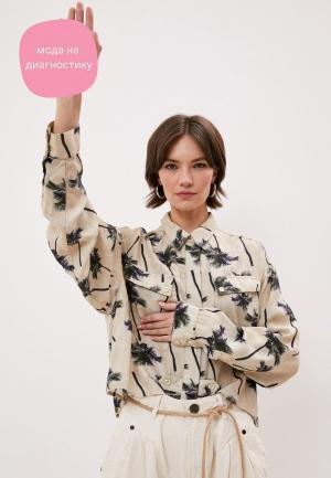 Блуза One Teaspoon. Цвет: бежевый
