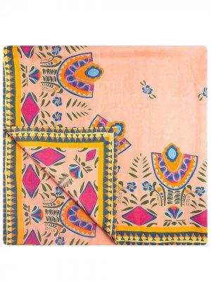 Скатерть с абстрактным принтом La Doublej. Цвет: розовый