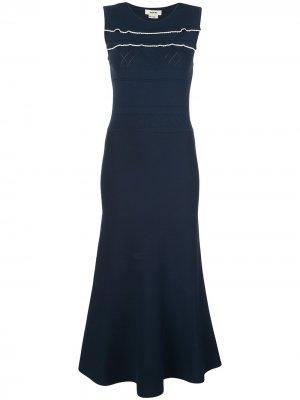 Платье тонкой вязки с фестонами Jason Wu. Цвет: синий