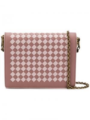 Клатч с плетением intrecciato Bottega Veneta. Цвет: розовый