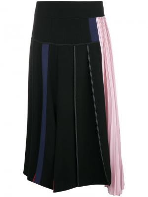 Colour block asymmetric skirt Sportmax. Цвет: черный