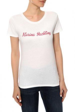 Футболка Marina Yachting. Цвет: white
