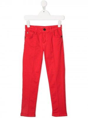 Узкие джинсы средней посадки Cesare Paciotti 4Us Kids. Цвет: красный