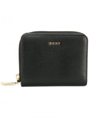 Мини кошелек на молнии Donna Karan. Цвет: черный