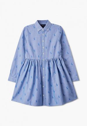 Платье Polo Ralph Lauren. Цвет: голубой