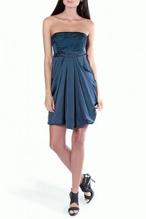 Платье Aftershock. Цвет: синий