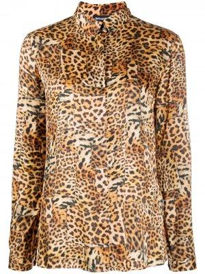 Рубашка с леопардовым принтом Just Cavalli. Цвет: желтый