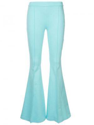 Однотонные расклешенные брюки Rosetta Getty. Цвет: синий