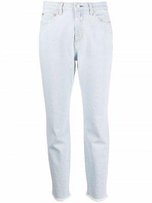 Зауженные джинсы с завышенной талией Closed. Цвет: синий