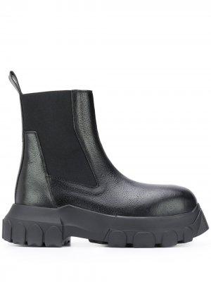 Массивные ботинки Mega Bozo Rick Owens. Цвет: черный