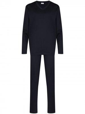 Пижамный комплект Zimmerli. Цвет: синий
