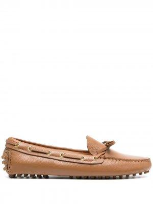 Лоферы-слипоны Car Shoe. Цвет: коричневый