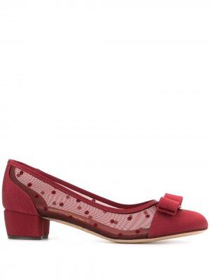 Туфли-лодочки Vara Salvatore Ferragamo. Цвет: красный