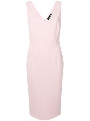Приталенное платье миди Styland. Цвет: розовый
