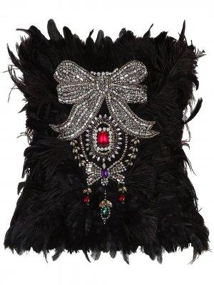 Декорированный топ-бюстье без бретелей Dolce & Gabbana. Цвет: черный