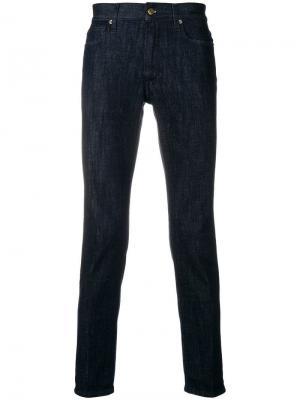Классические джинсы кроя слим Grifoni Denim. Цвет: синий