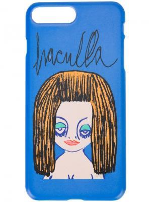 Чехол для телефона с принтом Haculla. Цвет: синий
