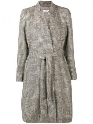 Plaid belted coat Peserico. Цвет: нейтральные цвета