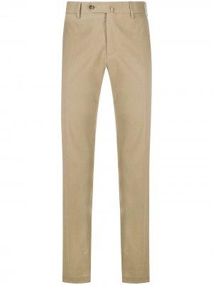 Прямые брюки чинос Pt01. Цвет: коричневый