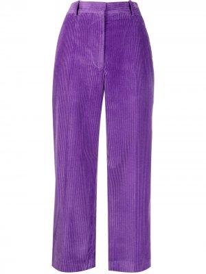 Укороченные вельветовые брюки Victoria Beckham. Цвет: фиолетовый