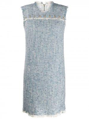Джинсовое платье с заклепками Escada Sport. Цвет: синий