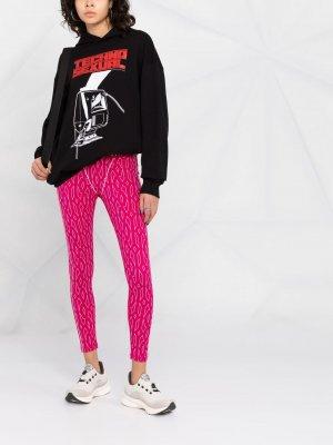Легинсы с монограммой из коллаборации Ivy Park adidas. Цвет: розовый