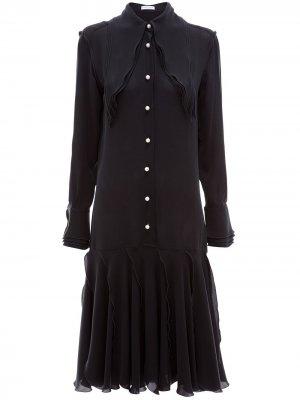 Многослойное платье миди JW Anderson. Цвет: черный