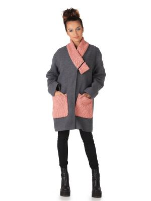 Пальто Artwizard. Цвет: серый, розовый