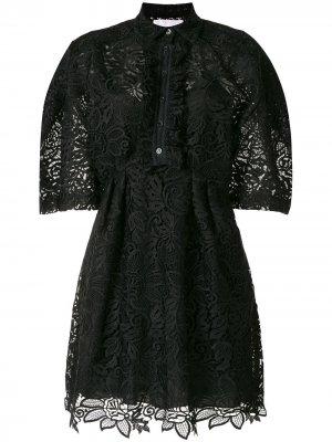 Платье-рубашка с короткими рукавами Carolina Herrera. Цвет: черный
