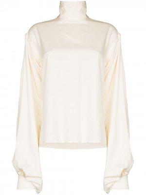 Блузка с высоким воротником Victoria Beckham. Цвет: нейтральные цвета
