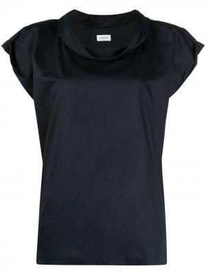 Блузка с воротником-хомутом Lemaire. Цвет: синий