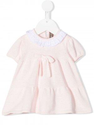 Трикотажное платье с оборками Little Bear. Цвет: розовый