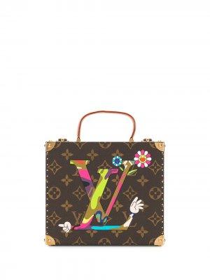 Кейс для украшений из коллаборации с Takashi Murakami Louis Vuitton. Цвет: коричневый