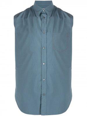 Рубашка без рукавов Maison Margiela. Цвет: синий